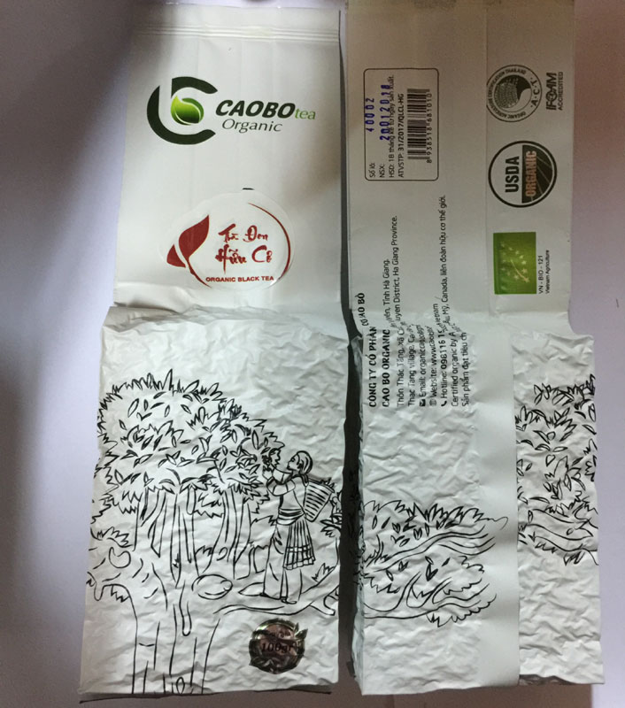 Trà đen hữu cơ hút chân không - Cao Bo Organic Tea