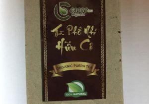 Trà Phổ Nhĩ hữu cơ bánh 250g (trà chín) - Cao Bo Organic Tea
